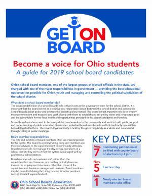 2019 OSBA board candidate flier